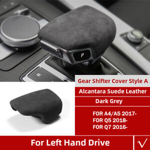 Gray Alcantara Suede Gear Shift Panel Cover For Audi A4 S4 S5 Rs5 B9 A5 Q5 Q7