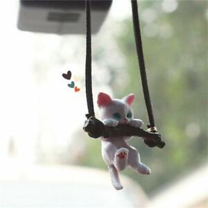 Creative Cute Branch Cat Rearview Mirror Pendant Girls Car Interior Accessories