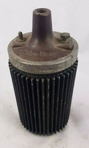 Vintage Dc Delco Finned 6 Volt Hot Rod Ignition Coil Tests Good