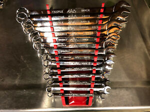 Mac 15pc Sae Long Knuckle Saver Wrench Set 1 4 1 12pt Holder Included