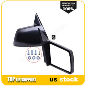 For 1988 1998 Gmc Chevy Pickup Truck Manual Side Mirrors Pair Set Non Folding