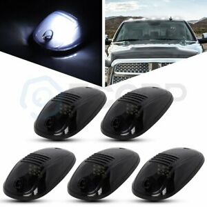 5x Smoke White Cab Marker Roof Running Light For 03 16 Dodge Ram 1500 2500 3500