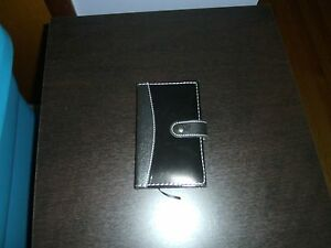 new Faux Leather Pocket Notebook With Pen black