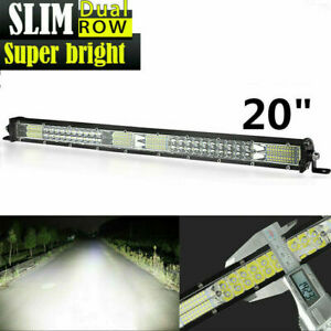 20inch 360w Led Work Light Bar Slim Flood Spot Combo Suv Offroad Driving Lamp