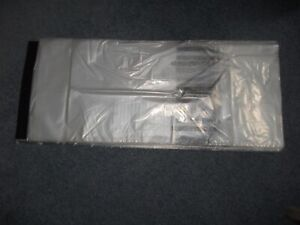 Large Poly Newspaper Bags 1500 Ct Clear 9 x 21 0 9mil Grade