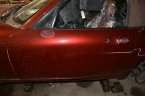 2006 2014 Mazda Mx 5 Miata 2 0l Maroon Driver Left Front Door Assembly