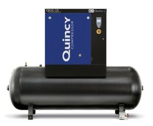 2021 Quincy Qgs 15 Rotary Screw Air Compressor 15 Hp With 120 Gallon Tank