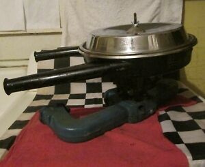 Vintage Chevrolet Dual Snorkel Air Cleaner W Used Carb Core Intake Manifold