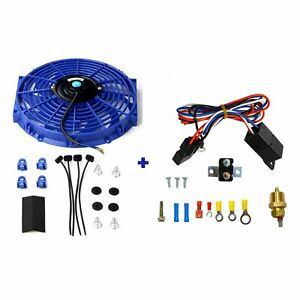 12 Electric Radiator Cooling Fan Blue Thermostat Control Relay Wire Kit