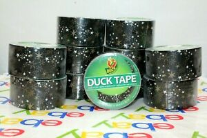New Gold White Stars On Black Duck Tape 1 88 In X 10 Yards X11 Rolls