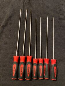 Snap On Extra Long Torx Screwdriver Set Classic Red T8 T30