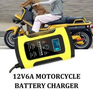 12v 6a Car Battery Charger Portable Jump Starter Maintainer Motorcycle Auto Boat