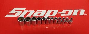 Snap On Tools 1 4 Drive 12 Pc Sae Shallow 6 Pt Socket Set 110tmy 2 Ships Free