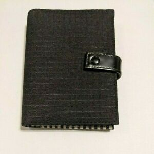 Dayrunner 6 ring Small Black Cloth Ladies Gingham Lined Planner With Inserts