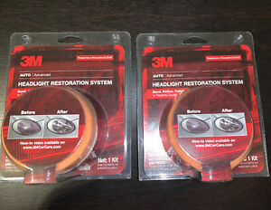 New Lot Of 2 3m Headlight Restoration Kit Lens System Remover For Cars Vehicle
