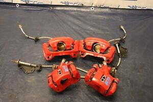 2002 04 Acura Rsx Type s K20a2 2 0l Oem Fr Rr Brake Caliper Set Steel Braided