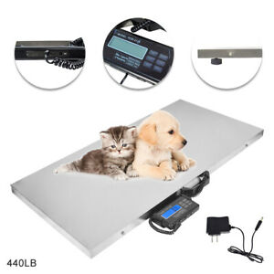 Digital Weighing Scale Veterinary Animal Weight 440lb For Big Pet Goat dog cat