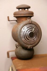 Ford Model T Oil Lamp Kerosene Lantern Headlight Side Light Antique Bracket