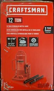 Craftsman Cmht50284 12 Ton Hydraulic Bottle Jack New
