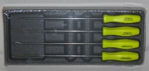 New Snap On Pick Set Long Shaft Asal204bhv Yellow Hard Handles New Sealed