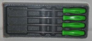 New Snap on Pick Set Long Shaft Asal204bg green Hard Handles New Sealed