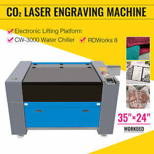 Co2 Laser Engraver Cutter 100w 35 x24 Cutting Engraving Machine With Chiller