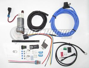 Walbro Ti F90000274 450lph Fuel Pump W Install Kit Rewire Kit E85 Compatible