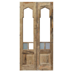 Salvaged 41 Double Doors With Gothic Arch Windows Ned1367