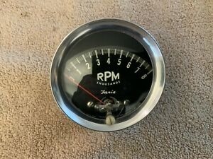 Vintage 1960s Faria 8000 Rpm Tachometer Ford Thunderbolt Cobra Gt350 Shelby