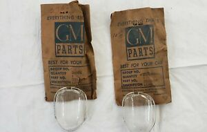 1 Vintage General Motors buick License Lamp Clear Lens Early 1940s Nos