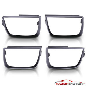 Set Of 4 For 10 13 Chevy Camaro Lt Ls Ss Tail Light Flat Black Bezel Covers