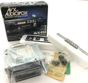 Vintage Avx By Audiovox Avx 932 Cassette Tape Player Car Stereo Radio