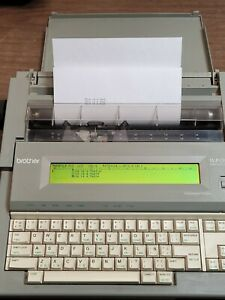 Brother Wp 760d Portable Word Processor Electronic Typewriter With Cover