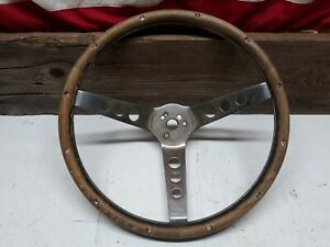 41 1 Vintage Wood Steering Wheel 13 1 2 Rat Rod Hot Superior 500 Style Type