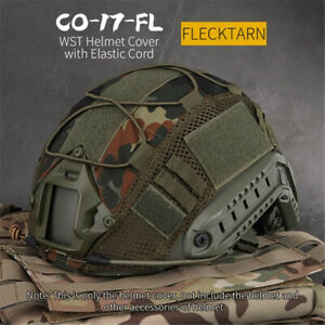 Woodland Camo Tactical Military Helmet Cover for Fast Helmet One Size Headwear $9.49