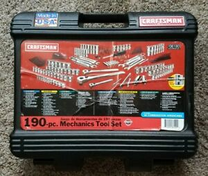 Craftsman Usa 200 pc Mechanic s Tool Set Easy read Laser etched Sockets 9 36190