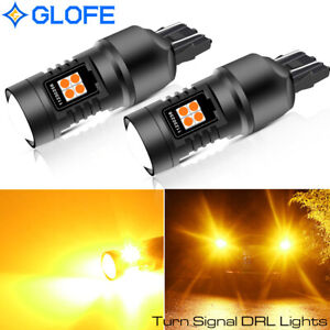 ultra Bright Amber 7443 7440 16 smd Led Turn Signal Drl Lamp Projector Bulb X2