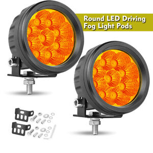 3 5 3000k Round Led Spot Light Pods Work Flood Driving Fog Lamp Offroad 4wd Atv