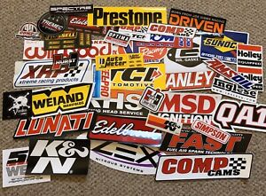 Lot Of 100 Racing Decals Contingency Stickers Nhra Nascar Outlaw Stock Car Drag