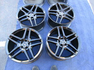 2014 To 2018 Mercedes Benz Amg S400 S550 S600 Oem Factory 19 Wheels Rims Black