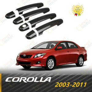Fit For Toyota Corolla 2003 2011 Carbon Fiber Style Door Handle Cover Trim