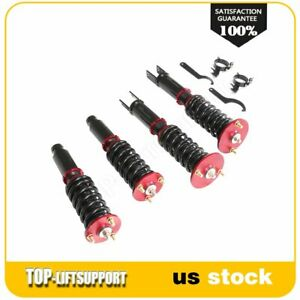 For 1990 1997 Honda Accord Coilover Shocks Struts Spring Kits Adjustable Height