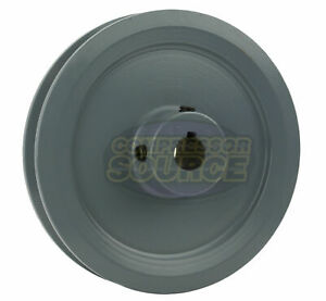 5 75 Cast Iron 5 8 Shaft Pulley Sheave Single 1 Groove V Style A Belt 4l New