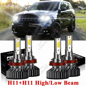 For Jeep Grand Cherokee 2019 2020 Combo H9 H11 Led Headlight High Low Beam Kit