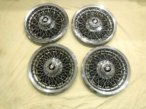 4 Vintage 15 Buick Wire Wheel Hub Caps
