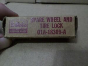 1936 1948 Ford Mercury Nos Spare Wheel And Tire Lock Cylinder Assembly Wkeys