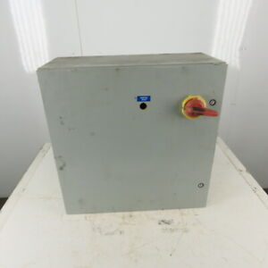 Hoffman Csd2424410 Steel Electrical Enclosure Back Plate 60a Fused Disconnect