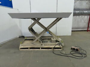 4000 Lb Hydraulic Scissor Lift Table 90 x60 13 1 2 59 3 4 ht 230 460v 3ph