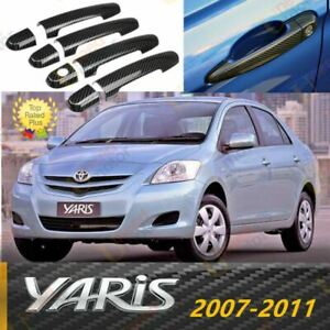 Fit For Toyota Yaris 2007 2011 Carbon Fiber Style Door Handle Cover Trim