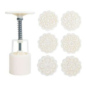 Mid Autumn Festival Hand Pressure Moon Cake Mould with 6 StampsCookie $10.73